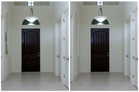 Front Door Foyer Before and After