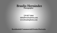 Business Card Back Side for Braulio PHOTO