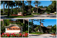 West Bay Club Entrance Collage